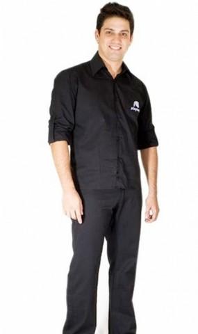 Camisa de Uniforme de Trabalho Jardim Bonfiglioli - Camisa de Uniforme de Trabalho