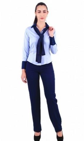 Camisa de Uniforme Social Azul Guarujá - Camisa de Uniforme de Trabalho