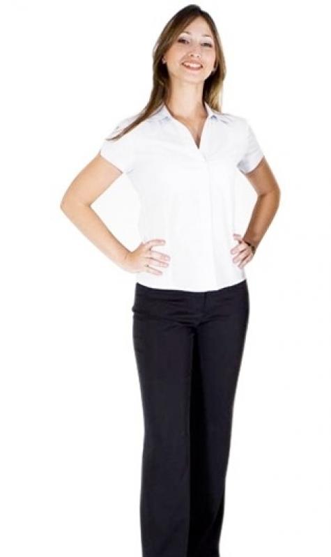Camisa Uniforme Branca Preço Barra Funda - Camisa de Uniforme Polo