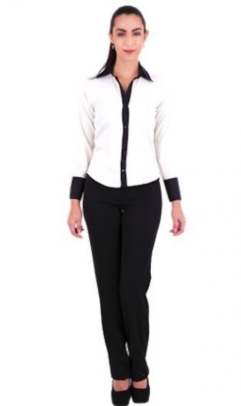 Camisas de Uniforme Feminino ARUJÁ - Camisa de Uniforme de Trabalho