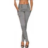 calças de uniforme cintura alta Zona Leste