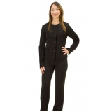 calças de uniforme preta Conjunto Residencial Butantã