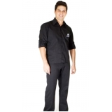 camisa de uniforme de trabalho Franco da Rocha