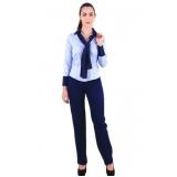 camisa de uniforme social azul Santo André