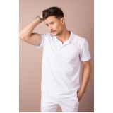 camisa polo uniforme branca