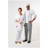 onde comprar calça branca uniforme cozinha Ilhabela