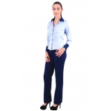 onde comprar camisa de uniforme social azul Votuporanga