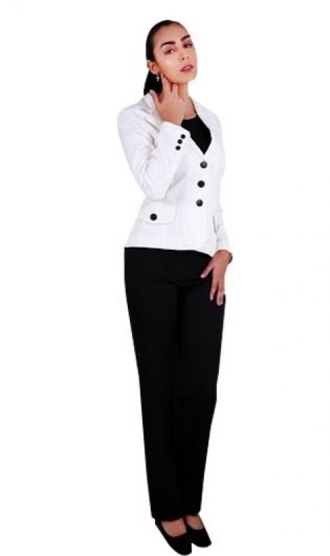 Uniforme para Secretária Americana - Uniforme para Restaurante